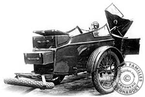 side-car biplace 1931 ouvert