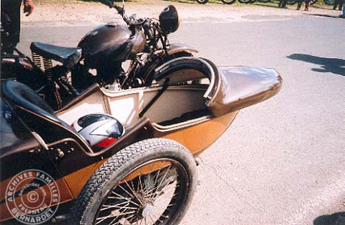 side-car grand sport capot ouvert